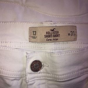 Hollister Shorts - Women's white denim shorts size 13